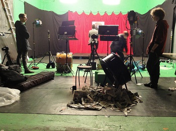 Dollface filming set